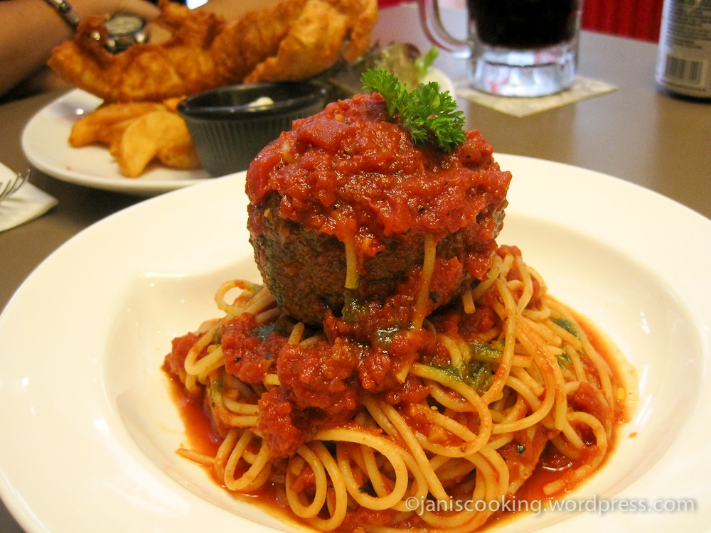 "... intrigued by this dish called ""The Meatball That Ate Manhattan"