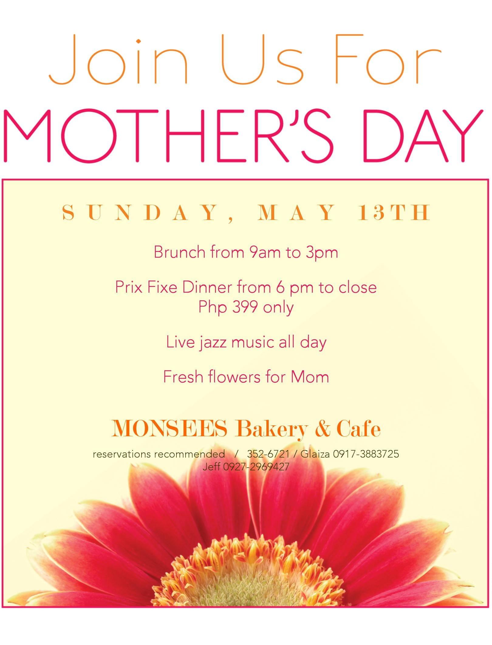 mother s day buffet in monsees cafe jan is cooking