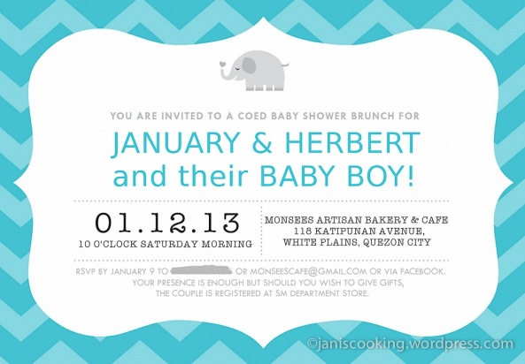 baby shower party last saturday the invite was sent via email and