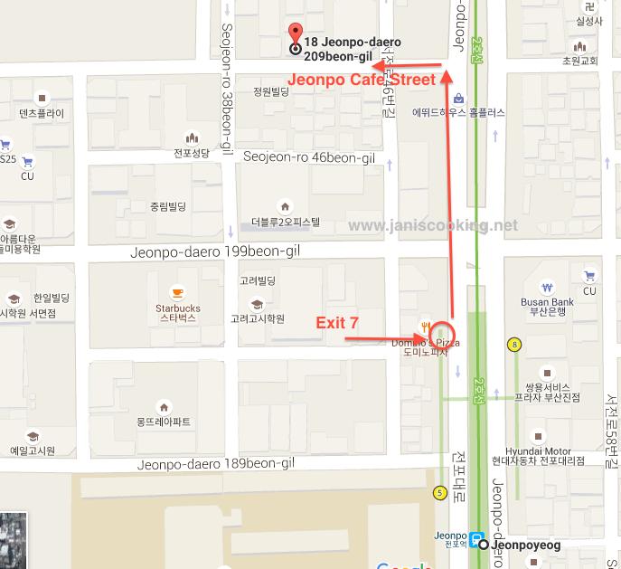 002BUSAN-MAP JEONPO CAFE STREET JANISCOOKING