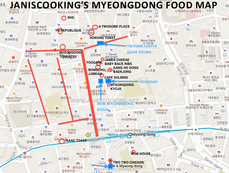 SEOUL-MAP MYEONGDONG FOOD