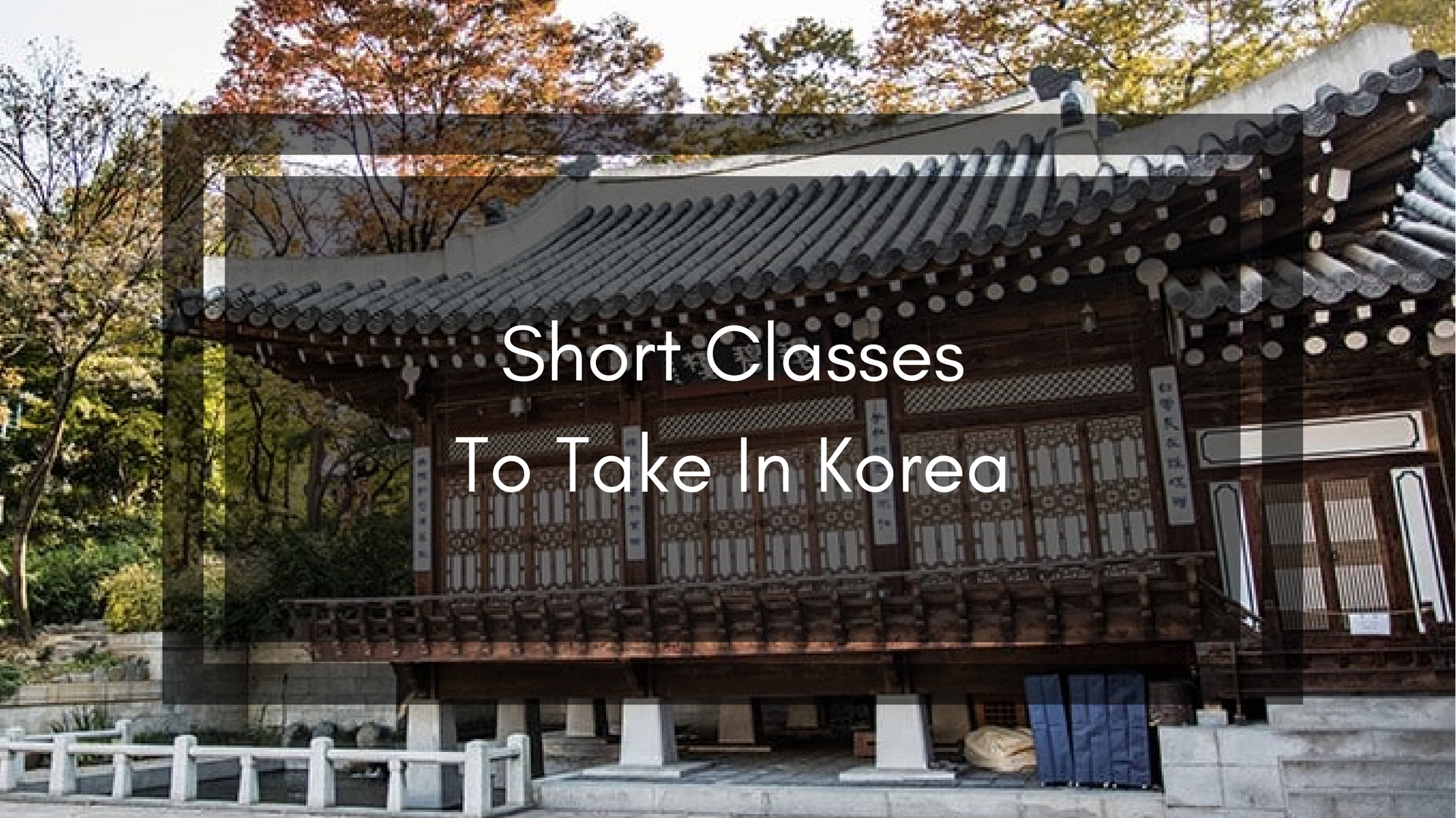 Learn Something New: 13 Short Classes To Take When In Korea – JAN IS